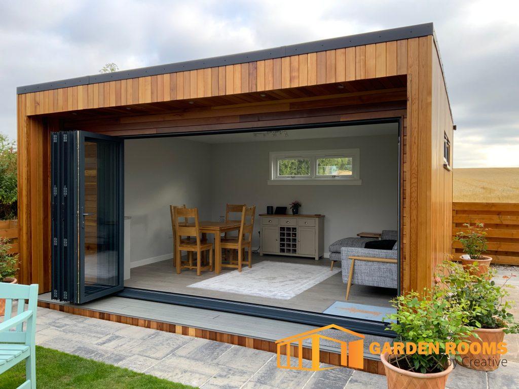 garden room with bi-folding doors scotland
