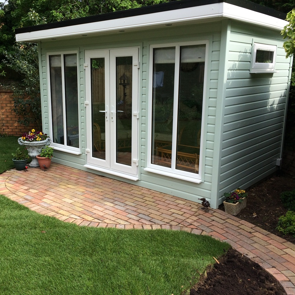 terrific insulated garden room | Treated Loglap Cabins from £5,415 - Creative Garden Rooms