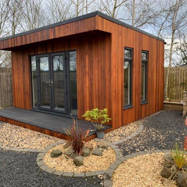 landscaped garden room