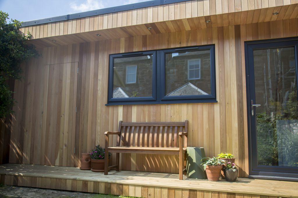 Garden room installation in Scotland
