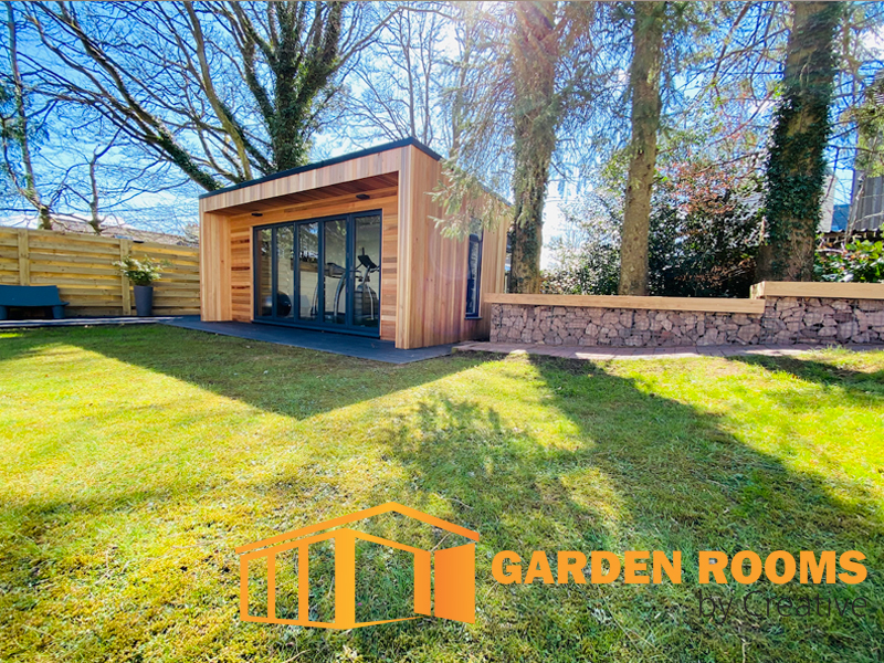 garden room installation in east kilbride by garden rooms by creative